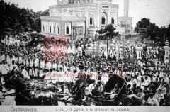 Constantinople, mosquée de Yıldız: AbdülhamidII à la sortie du selamlık (coll.Michel Paboudjian)