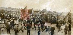 Manifestation patriotique à l'occasion de l'appel à la guerre sainte (photographie de Victor Forbin, archives du Foreign Office, Kew).
