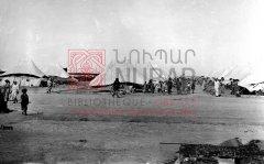 Vue du camp de réfugiés de Bakouba en 1919 (coll.Bibliothèque Nubar).