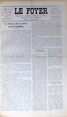 24 Le foyer 15 Octobre 1929