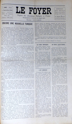 43 Le foyer 1er Septembre 1930