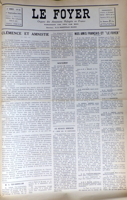 55 Le foyer 1er Septembre 1931